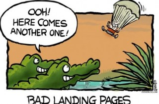 bad landing pages example