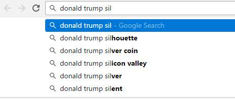 Donald Trump Google Search Auto Completions