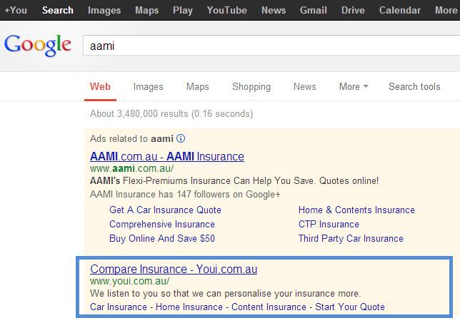 AAMI Brand bid by Youi