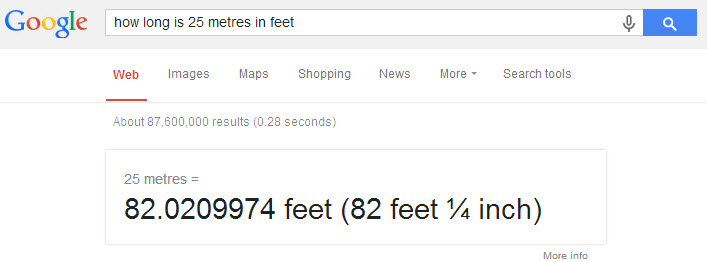 feet vs meters