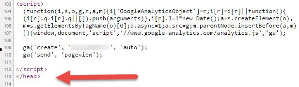google-analytics-tracking-code-placement-on-website