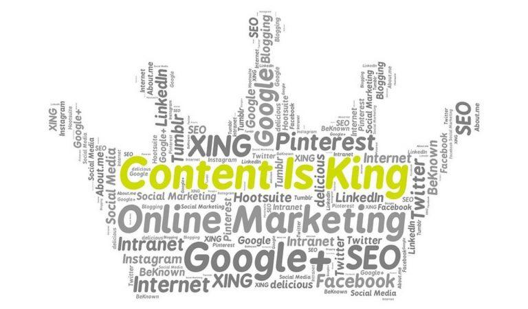 Online Marketing Google Facebook Content Is King