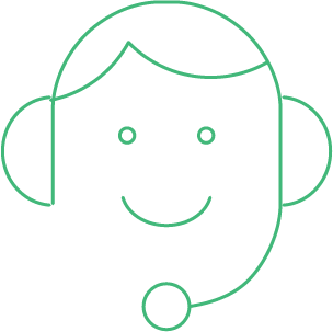 animated person delivering customer service