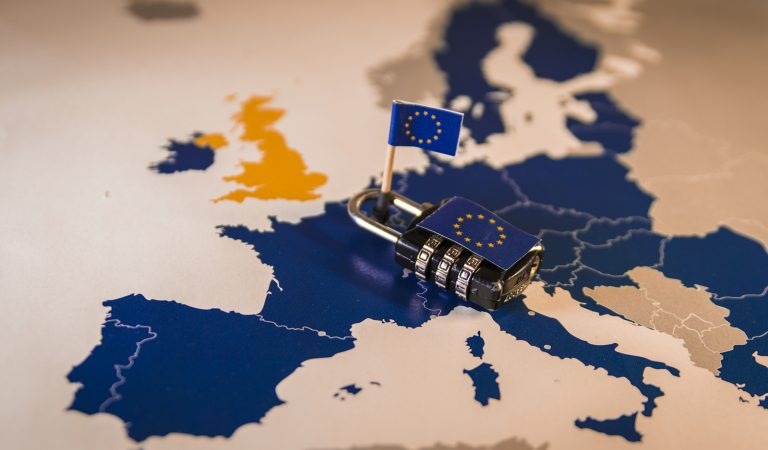 Padlock Over Eu Map General Data Protection Regulation or GDPR