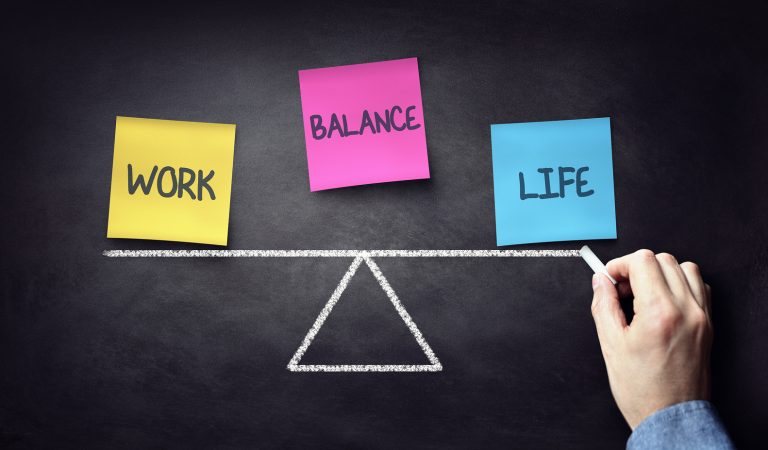 Work life balance business and family choice graphic