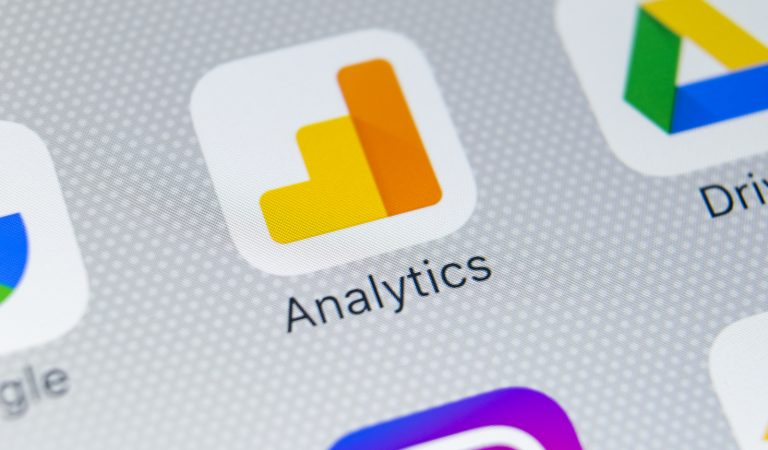Google Analytics application icon on Apple iPhone X