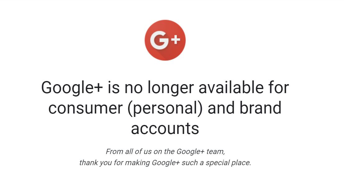 Google Plus Defunt