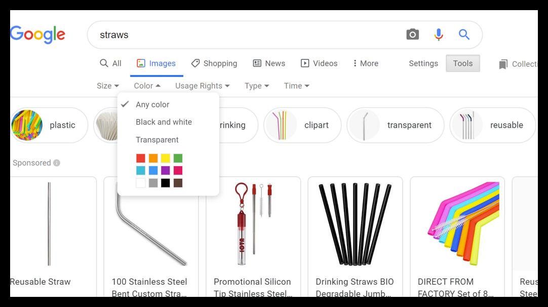google colour settings